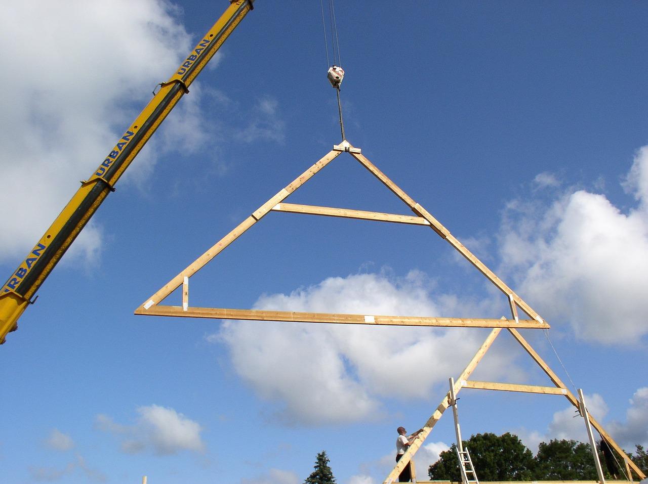 Hausdach mit Trapezblech